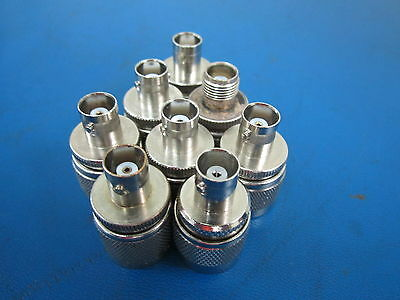 Lot Of 8 Bnc Female To N Male Connectors Electronic Test Equipment
