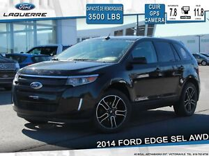 2014 Ford Edge SEL**AWD*CUIR/SUEDE*GPS*CAMERA*TOIT PANO**
