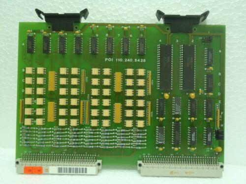 Netstal Poi 110.240.5429b Control Interface Relay Board Poi 110.240.5428