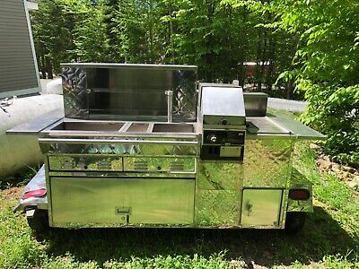 Used Stainless Cart Concepts Hot Dog Food Cart Cart