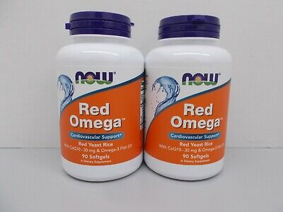 2 - NOW Foods Red Omega, Cardiovascular Support, 90 Softgels = 180