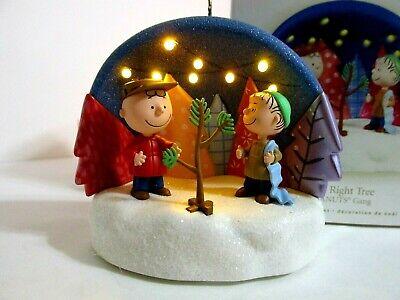 SNOOPY PEANUTS CHARLIE BROWN HALLMARK CHRISTMAS ORNAMENT LIGHT SOUND LINUS 2009 Brown Christmas Light