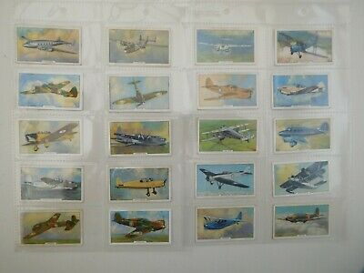GALLAHER Cigarette Cards  ( Aroplanes ) Original 1939 Full Set 48 for sale  Shipping to Ireland