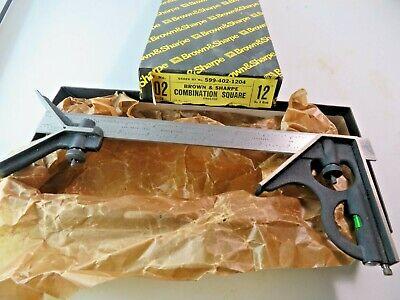 Brown Sharpe 599-402-1204 3 Pc 12 4r Combination Square Set New