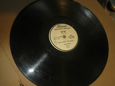78RPM Federal DJ 12171 Jesse Powell, Hot Box / Leavin' Tonight clean V to V-