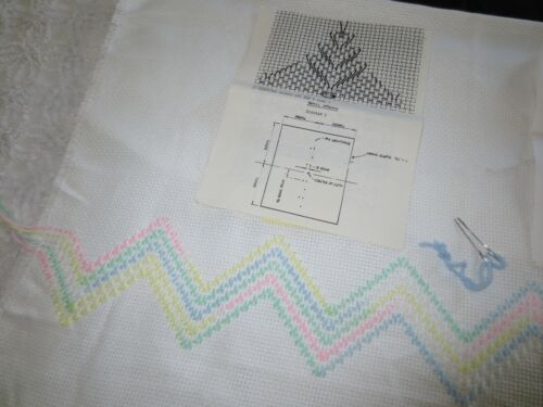 """Started WEAVING MONK CLOTH Afghan - 36"""" x 59"""" with 2 PAT STANK Patterns"""