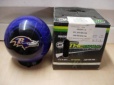 15 Bowling Ball Otb Viz-a-ball Rare 2010 Nfl Baltimore Ravens