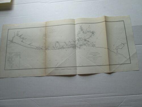 ONE (1) 1848-1854 COAST SURVEY TRIAGULATIONS S-I,NO.9, TX GALVESTON-LAVACA BAY
