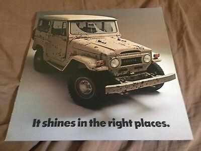 1973 Toyota Land Cruiser FJ40 SUV USA Market Original Brochure Prospekt