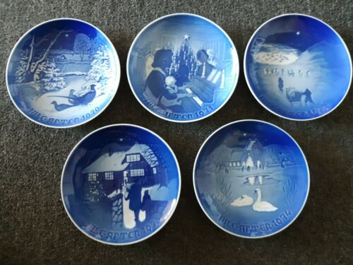 5 Lot 1970 1971 1972 1973 1974 Jule After Bing Grondahl Christmas Plates