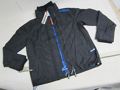 SUPERDRY PROFESSIONAL the Windcheater black classic jacket womens size XL