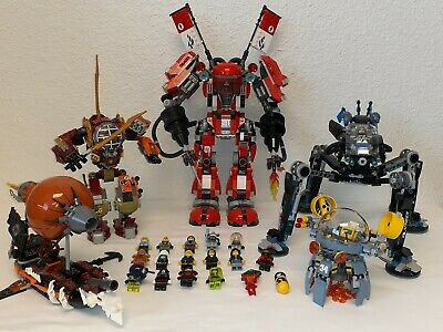 LOT of 5 LEGO NINJAGO SETS w/ 18 MINIFIGURES, FIRE MECH 70615, 70592 MEC +MORE!