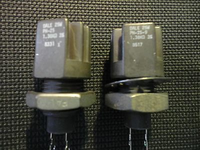 2pcs. Dale Ph25-1.38k-3 25watt W.w. Panel Mount Power Resistor