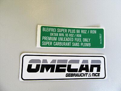 Aufkleber Sticker VW Golf 2 G60 Rallye Tankdeckel Super Bleifrei 030010046F