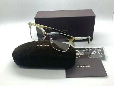 TOM FORD TF 5342 060 BEIGE HORN/GOLD Eyeglasses 51-20-145 ITALY NEW IN (Tom Ford Prescription Glasses Womens)