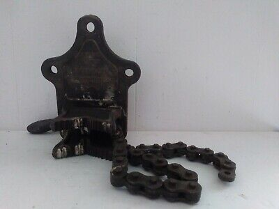 Vintage J. H. Williams Co Vulcan No.2 Chain Bench Vise 14-4 Pipe