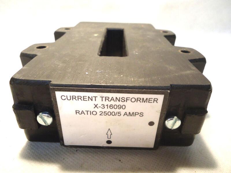 NEW ALLEN BRADLEY X-316090 CURRENT TRANSFORMER RATIO 2500/5 AMP