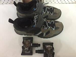 Shimano SPD Mountain Bike shoes and cleats/pedals Gunnedah Gunnedah Area Preview