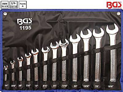 BGS 1195 12-tl Satz Maulringschlüssel Zoll 1/4-15/16 Maulschlüssel Ringschlüssel