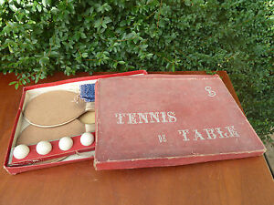 ancien jeu de tennis de table jouet ancien ebay. Black Bedroom Furniture Sets. Home Design Ideas