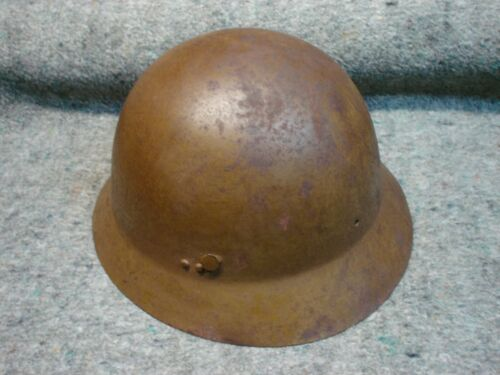 WWII Japanese Civil Defense Helmet, named, unit marked, not Arisaka