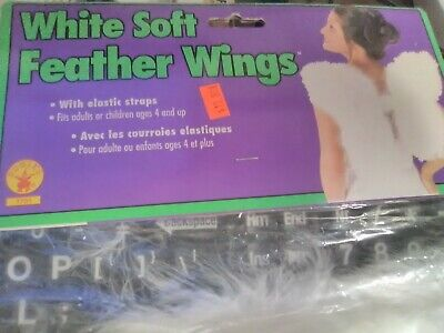 Shop~Rubies Angel Wings White Soft Feathers With Elastic Straps