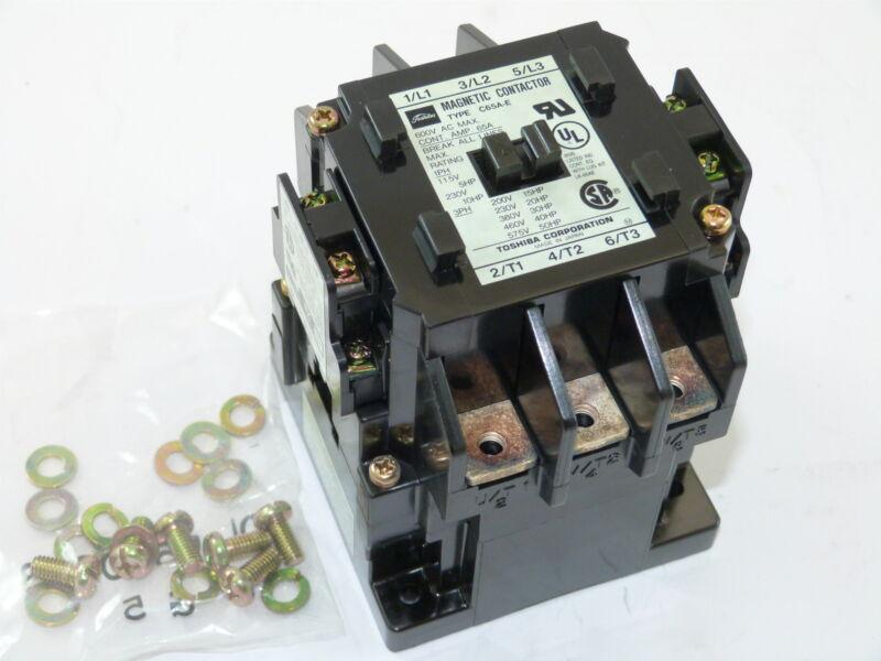 Toshiba C65A-E Contactor 65a 600v 120v Coil NEW