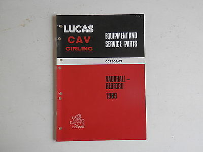 LUCAS Parts List 1969 VAUXHALL BEDFORD cars and commercials