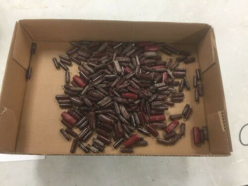 3lbs of Vintage Red Capacitors! Different Values! MAKE OFFER!