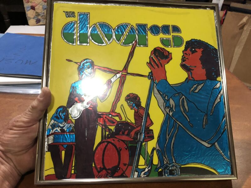 Scarce Vintage The Doors Jim Morrison Concert Foil Carnival Rock Art
