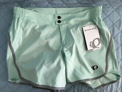 Pearl Izumi Ride Bike Cycling Mint Journey Shorts w/ Padded Panty L Womens $75