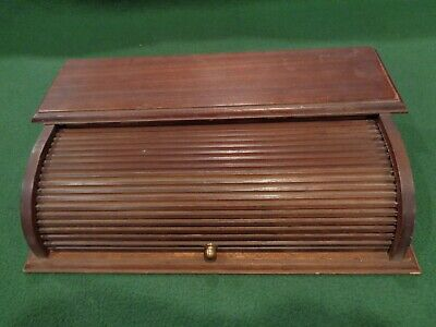 Vintage Mele Wood Rolltop Desk Paper File Tray 12 X 7 14 X 3 14