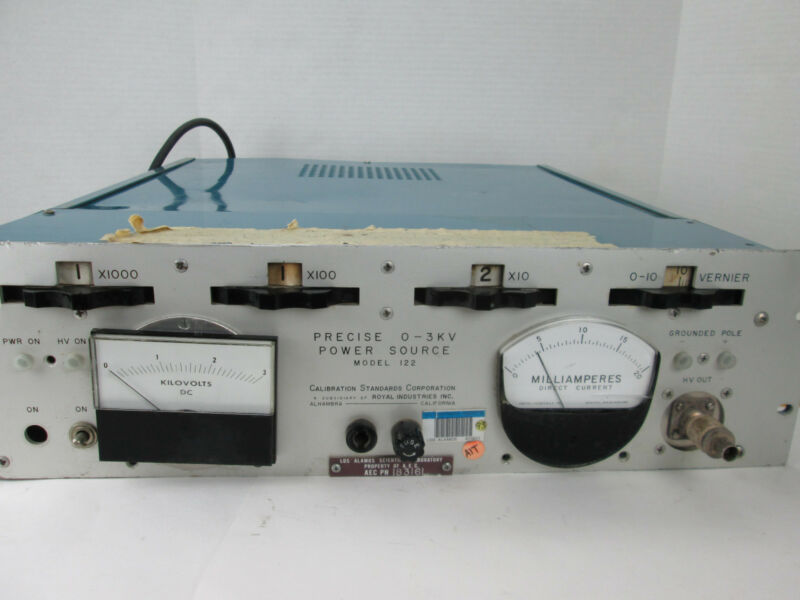 Calibration Standard Corp Precise 0-3KV Power Source Los Alamos Lab Equipment GS