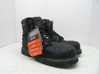 Black Comfort Steel Toe Boots (Dakota Men's 6'' X-Toe Quad Comfort Steel Toe Composite Plate Boots Black 10M )