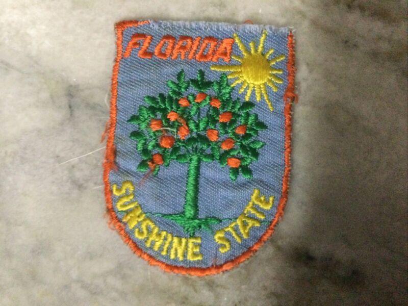 Vintage Voyager Travel Souvenir Patch FLORIDA Orange Tree