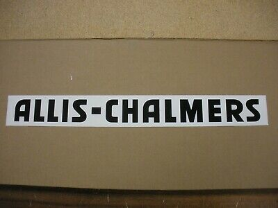 Allis Chalmers Decal Black 2 X 20 New. Free Shipping