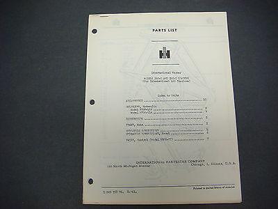 Wagner Iron Workstractor Equipmentsupplement No 6iwe-1 Parts Catalog