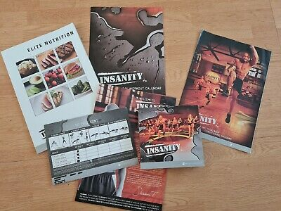 Insanity 60-day home workout DVD set by Beachbody, Home fitness with meal plan.