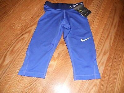 More Mile Girls Capri Tights Blue Stylish Junior Running Sports Training Tight