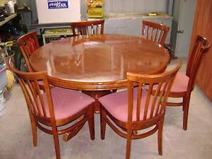 7 PCE SOLID TIMBER DINING SUITE Camira Ipswich City Preview