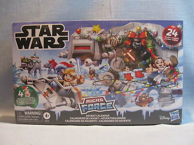 STAR WARS MICRO FORCE 2019 ADVENT CALENDAR, 24 FIGURES, NEW, SEALED