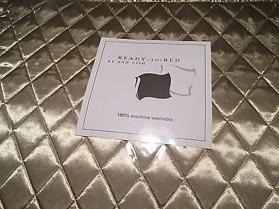 NWT Ann Gish Quilted Poly Charmeuse Flax Standard Pillow Sham MSRP $150 - WOW!