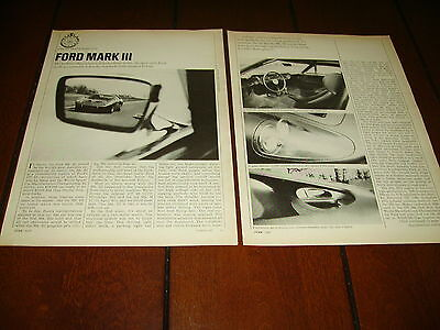 1967 FORD MARK III  ***ORIGINAL ARTICLE / ROAD TEST*** GT
