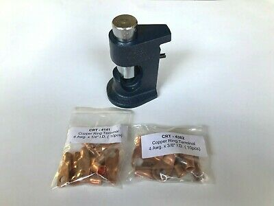 Large Gauge Hammer Crimper Tool 10 To 8 Gauge Awg 20pcs Free Ring Terminals