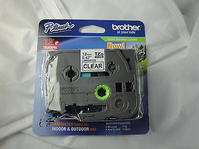1 Brother P-touch Tze-131 Black On Clear Label Tape Genuine Oem 12 12mm X 8m