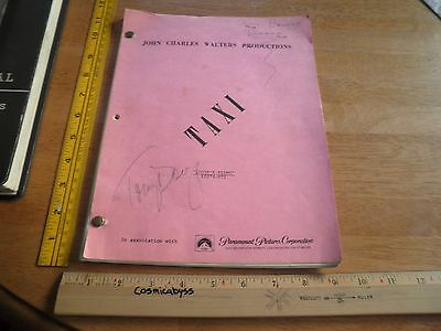 TAXI 1981 VINTAGE signed ORIGINAL TV script Tony Danza Christopher Lloyd