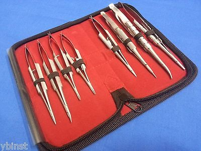 8 O.r Grade Castroviejo Micro Surgery Needle Holders Surgical Instruments Kit