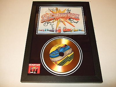 SHOWADDYWADDY  SIGNED FRAMED GOLD CD  DISC   446