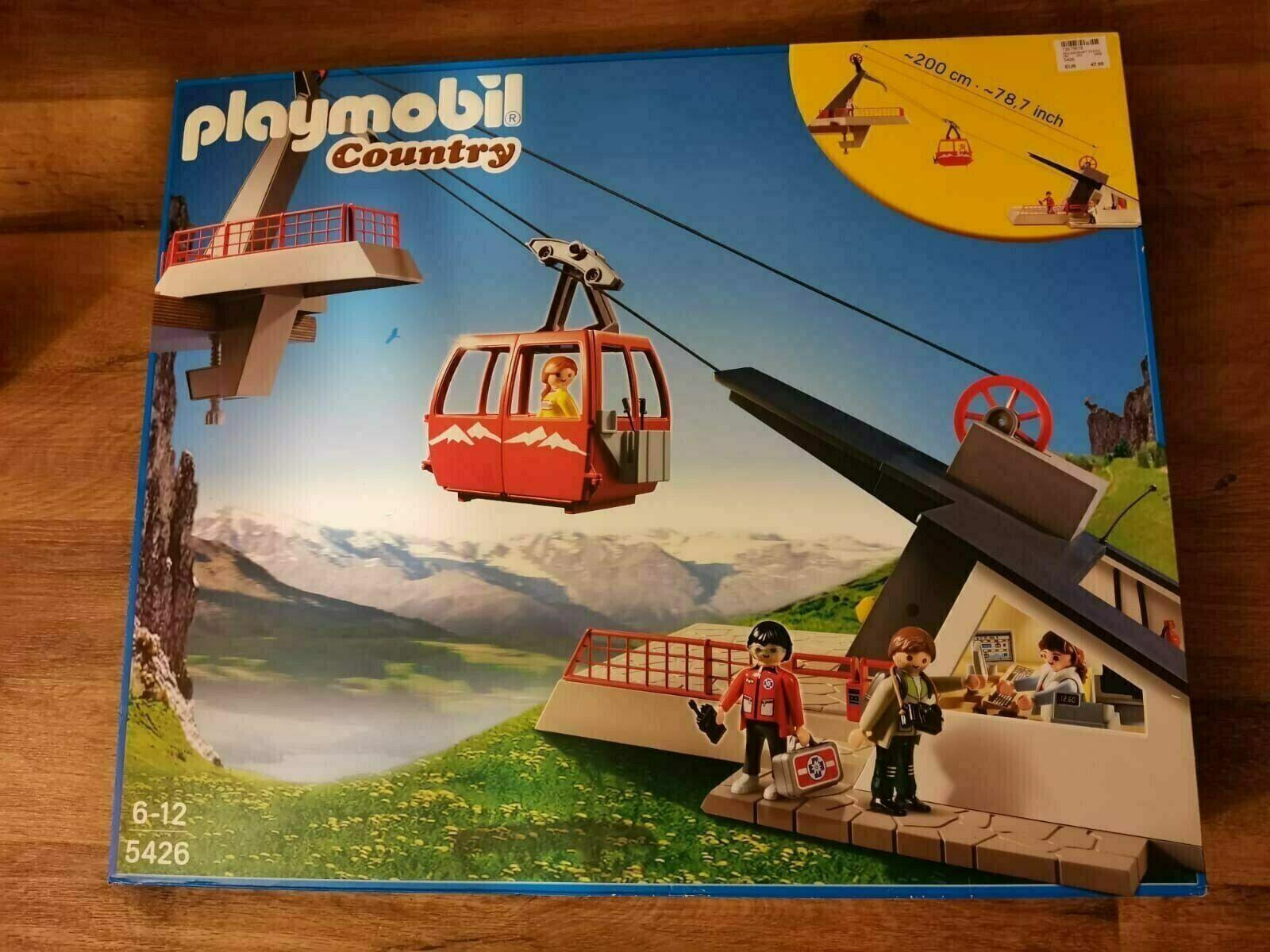 Playmobil Country Seilbahn mit Bergstation 5426 von 2012 Neu & OVP