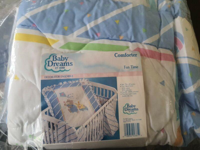 Vtg NEW BABY DREAMS Little Bear Kyte bunny toy Collection Nursery Crib Comforter